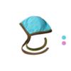 Baby Häubchen für Frühchen und Neugeborene Blau Rose