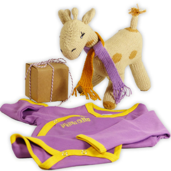 Chill n Feel - Besonderes Babygeschenk Giraffe und Wickelbody aus Pima Cotton (1)