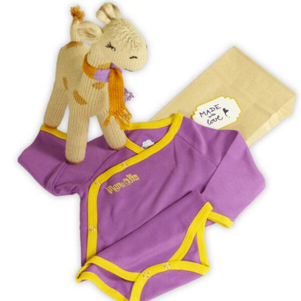 Chill n Feel - Besonderes Babygeschenk Giraffe und Wickelbody aus Pima Cotton (2)