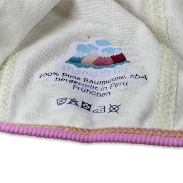Chill n Feel - Häubchen für Frühchen und Neugeborene aus Pima Cotton kbA Weiß Rosé (2)