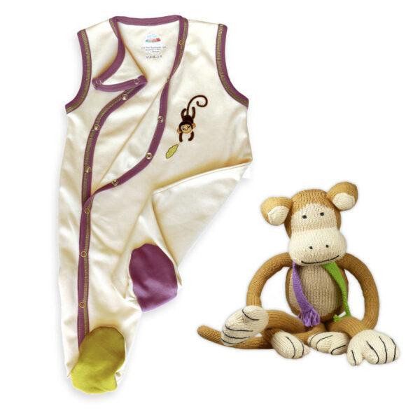 Chill n Feel - Originelles Geburtsgeschenk Affe u. Ärmellos-Strampler aus Pima Baumwolle (3)