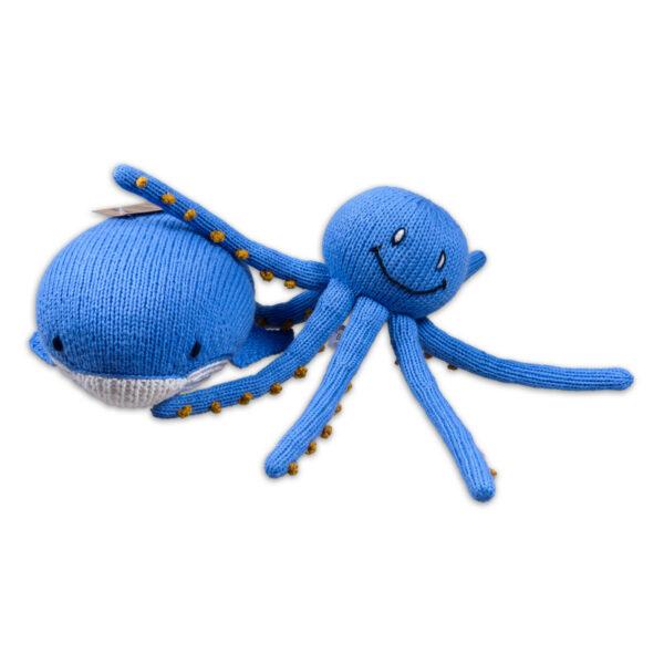 Chill n Feel - Kuscheltier-Set Blauwal und Oktopus aus Biobaumwolle (1)