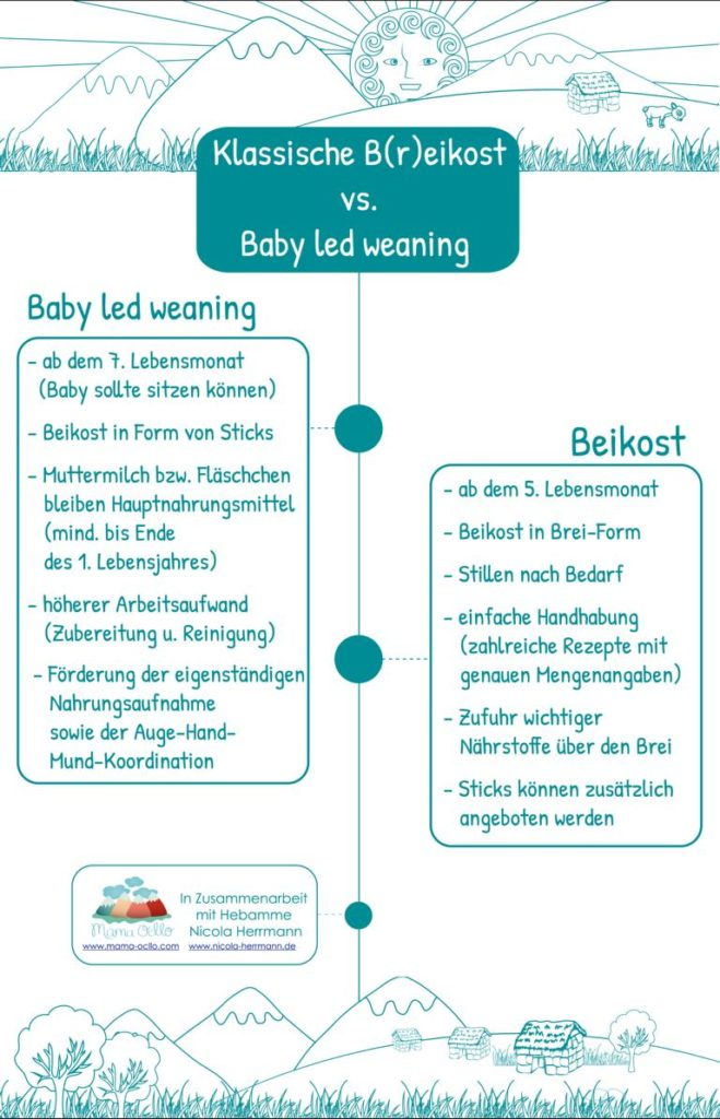 Unterschiede Beikost vs. Baby led weaning