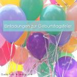 Einladungen für die Geburtstagsfeier