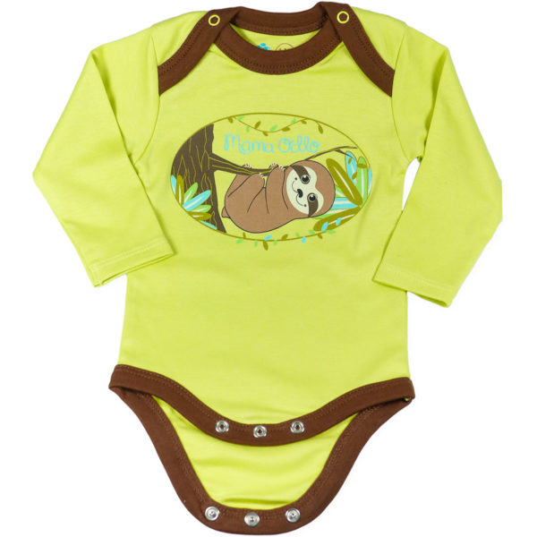 Chill n Feel - Baby Body Pima Cotton Grün Braun Faultier Bio Qualität (4)