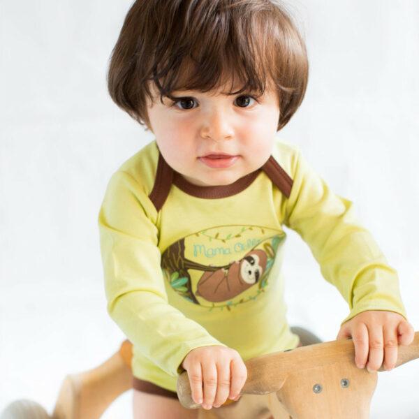 Chill n Feel - Baby Body Pima Cotton Grün Braun Faultier Bio Qualität (6)