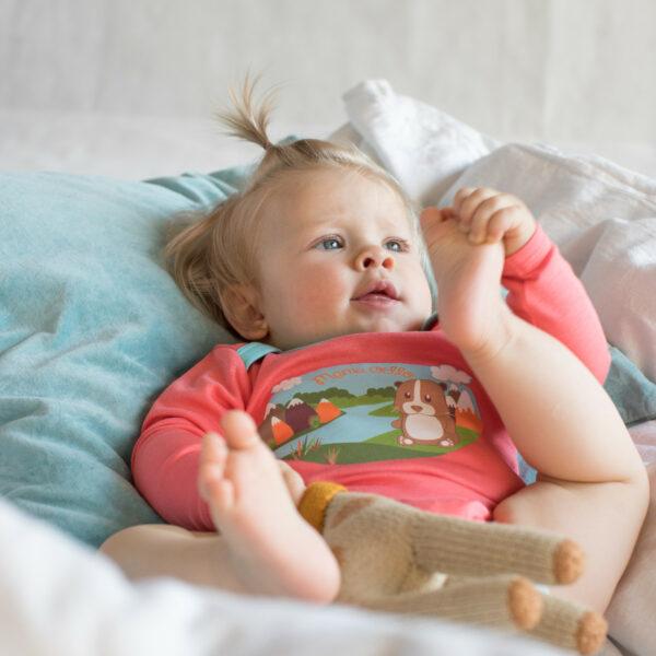 Chill n Feel - Baby Body für Mädchen Meerschweinchen Print Pima Bio-Baumwolle (8)