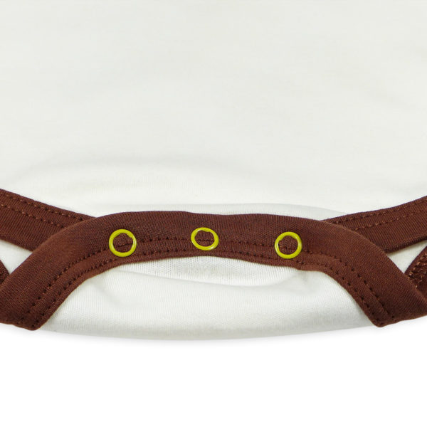 Chill n Feel - Kurzarm Baby-Body Kondor in Premium Pima Qualität Weiß Braun (1)