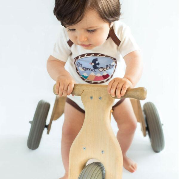 Chill n Feel - Kurzarm Baby-Body Kondor in Premium Pima Qualität Weiß Braun (6)