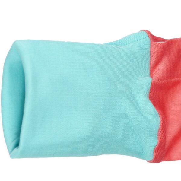 Chill n Feel - Strampler Delfin aus Pima-Baumwolle mit Umschlagbündchen Pfirsich Blau (7)