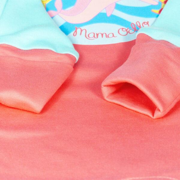 Chill n Feel - Strampler Delfin aus Pima-Baumwolle mit Umschlagbündchen Pfirsich Blau (9)