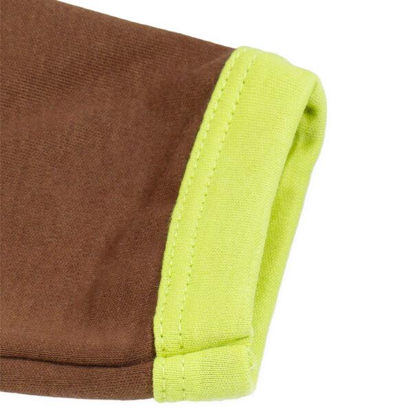 Chill n Feel - Strampler Faultier aus Pima-Baumwolle mit Umschlagbündchen Grün Braun (1)