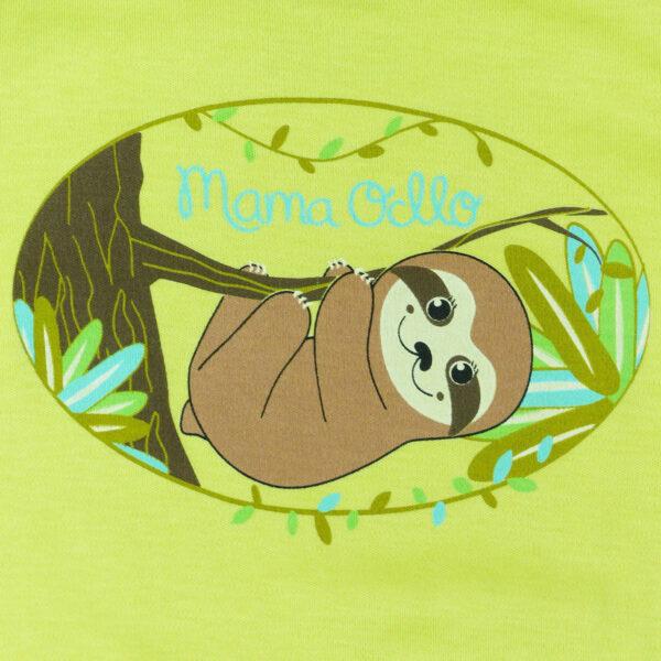 Chill n Feel - Strampler Faultier aus Pima-Baumwolle mit Umschlagbündchen Grün Braun (2)