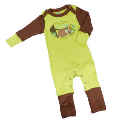 Grüner Faultier Strampler im Set für Neugeborene