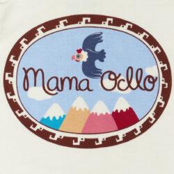 Mama Ocllo - Kurzarm Baby-Body Kondor in Premium Pima Qualität Weiß Grün (6)