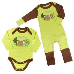 Chill n Feel - Baby-Erstausstattung mitwachsender Schlafanzug mit Kratzschutz u. Body (1)