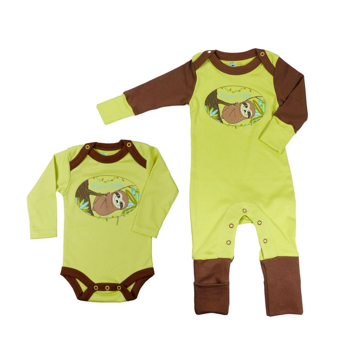 Chill n Feel - Baby Schlafanzug Faultier aus Pima Biobaumwolle