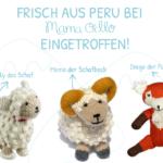 Wieder auf Lager: Schaf Nelly, Schafbock Memo u. Fuchs Diego