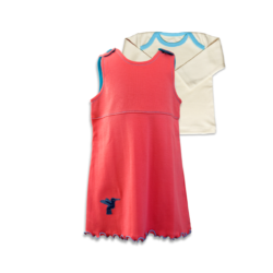 Chill n Feel - Baby-Kleid Korall Kolibri