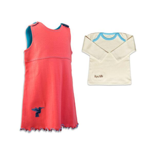 Chill n Feel - Baby-Mädchen Outfit Kolibri Kleid u. Shirt aus Pima (1)