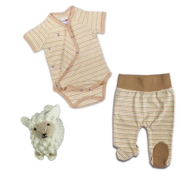 Chill n Feel - Erstlingsausstattung für Baby Mädchen Hose Body Schaf (1)