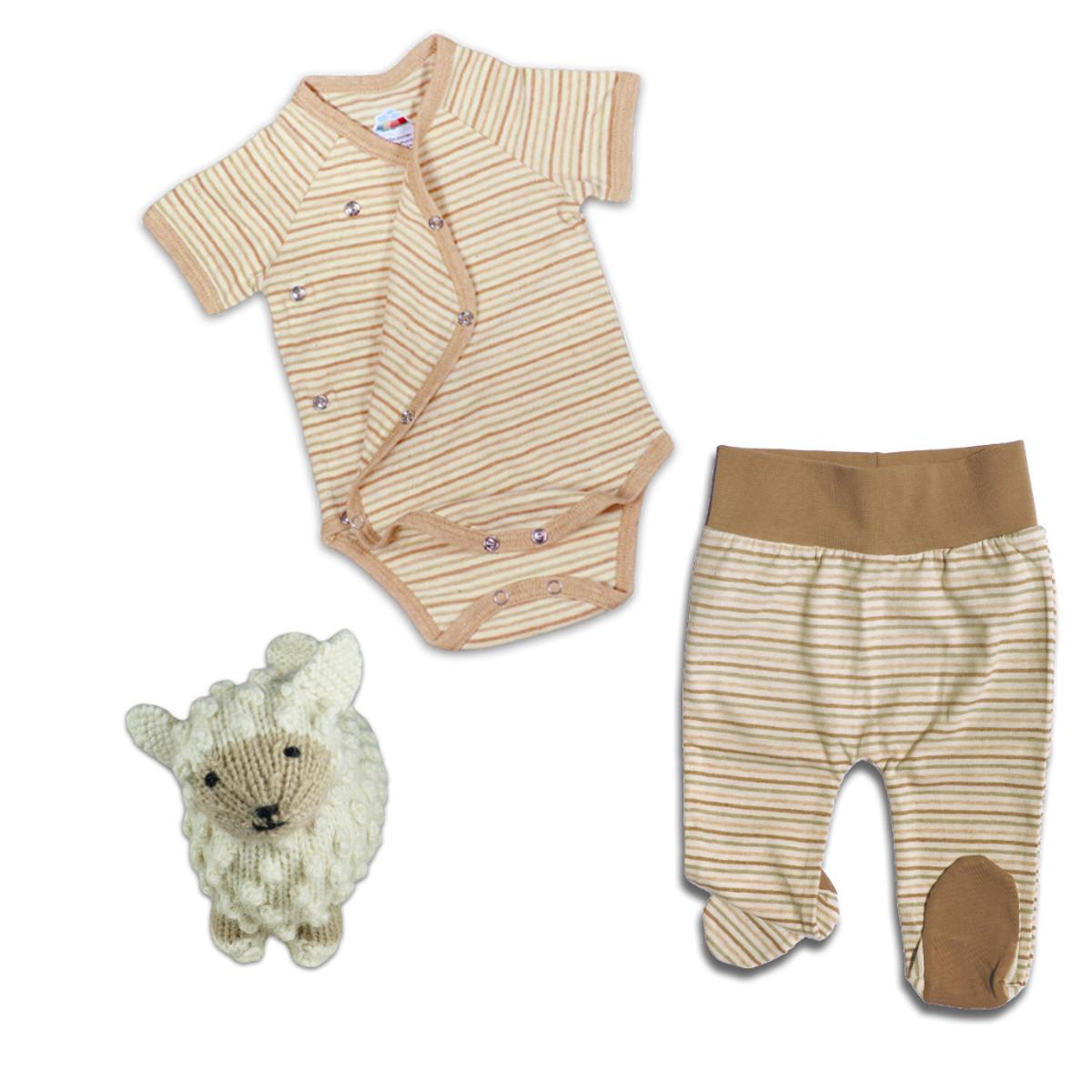 separation shoes 3e368 5a537 Starterset für Baby-Mädchen: Strampelhose, Wickelbody u. Schaf