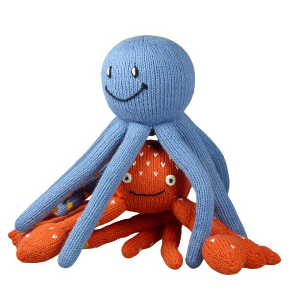 Dieses Bild zeigt zwei kuschelige Wassertiere aus Bio Baumwolle