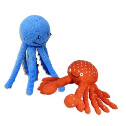 Chill n Feel - Maritimes Geschenk für Geschwister Meerestiere Oktopus Krebs (1)