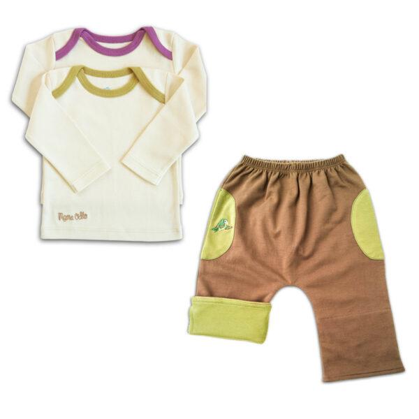 Chill n Feel - Unisex Baby Jogginganzug Papagei Pima Shirt u. Hose (1)