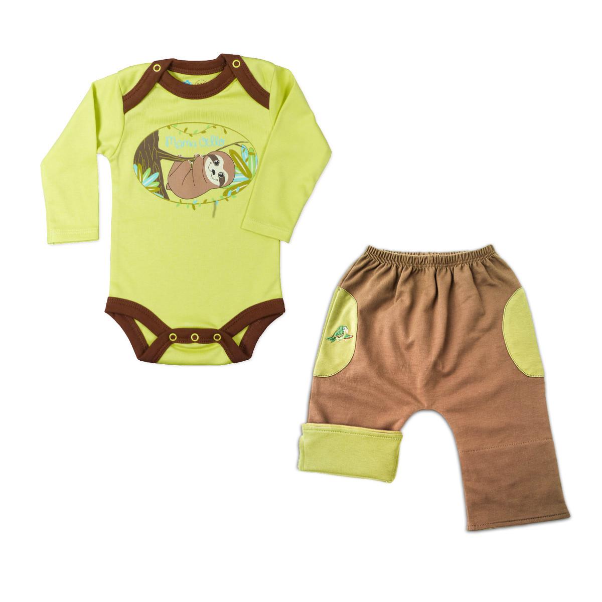 Chill n Feel - Unisex Baby Outfit für Wald-Liebhaber Pima Body und Hose (1)