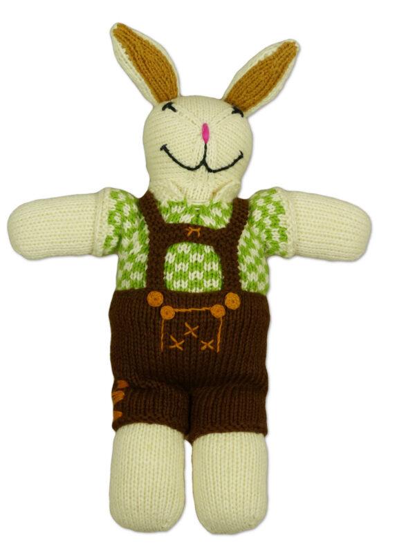 Chill n Feel - Bio Kuscheltier Hase in Lederhose Tracht aus Biobaumwolle (6)