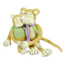 Chill n Feel - Bio Strick-Affen Papa u. Baby aus Biobaumwolle (1)