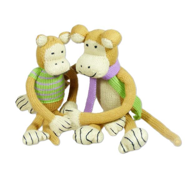 Chill n Feel - Bio Strick-Affen Papa u. Baby aus Biobaumwolle (2)