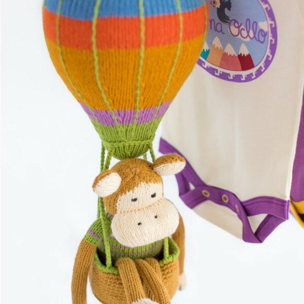 Chill n Feel - Baby Mobile Heißluftballon für Babyshower oder Geburt (5)