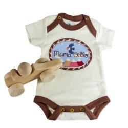 Babygeschenk Bio Body Pima Baumwolle u. Greifling Holzauto (3)