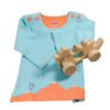 Chill n Feel - Babygeschenk Bio Pullover Blau u. Greifling Holzdrache (3)