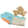 Chill n Feel - Babygeschenk Hose Shirt Blau Pima Cotton Holz-Segelschiff (2)