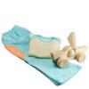 Chill n Feel - Babygeschenk Hose Shirt Blau Pima Cotton Holz-Segelschiff (3)