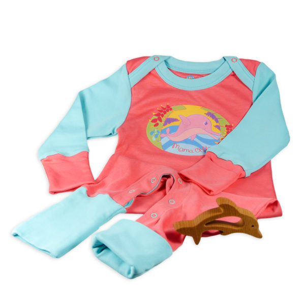 Chill n Feel - Geschenk Baby-Mädchen Pyjama u. Greifling Delfin (4)