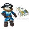 Chill n Feel - Stoff-Puppe Pirat mit Mundschutzmaske