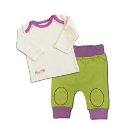 Chill n Feell_Baby Schlafanzug ohne Füße_aus Pima Biobaumwolle_Grün (1)