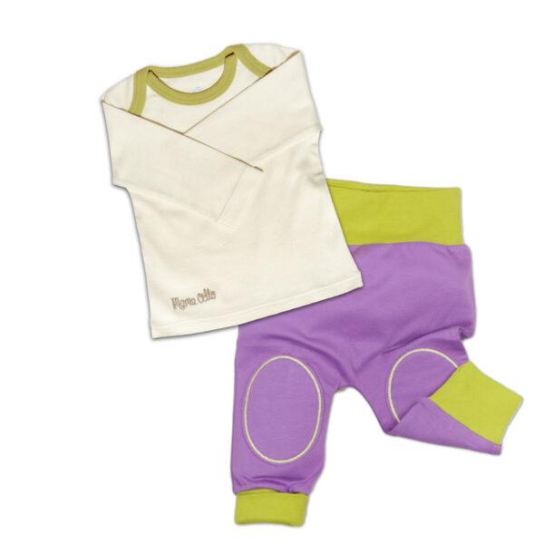 Chill n Feel_Baby Schlafanzug ohne Fuß aus Pima Biobaumwolle_Lila (1)