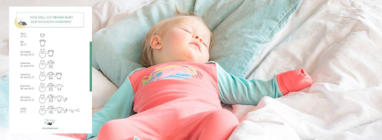 Chill n Feel_Gesunder Babyschlaf_Baby nachts richtig anziehen