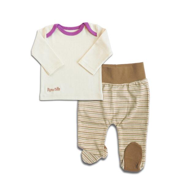 Chill n Feel_Zweiteiliger Baby Schlafanzug_aus Pima Biobaumwolle_Geringelt