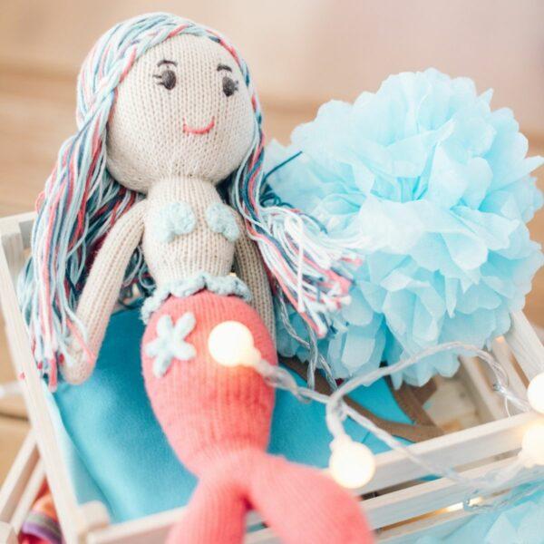 Meerjungfrau Puppe Lilly aus Bio Baumwolle