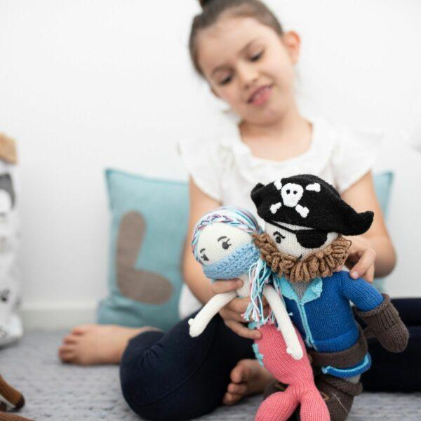 Chill n Feel - Meerjungfrau Puppe_Pirat_Mundschutz (1)
