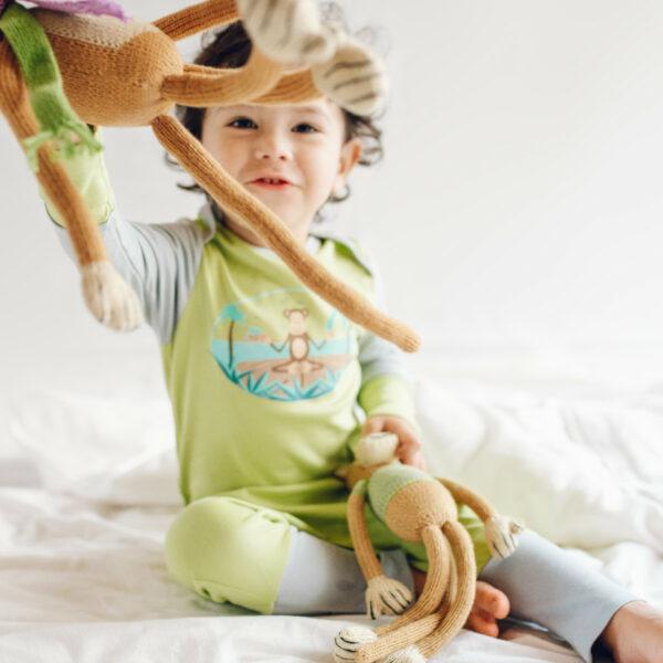 Chill n Feel - Bio Strampler Affe mit Kratzschutz_Pima Baumwolle (6)