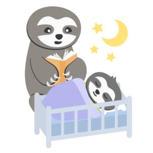 Einschlafrituale für Kleinkinder_Abendroutine_Faultier schläft