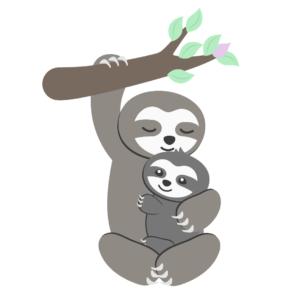 Sanfte Einschlafrituale für Kleinkinder_Mama kuschelt mit Faultierbaby