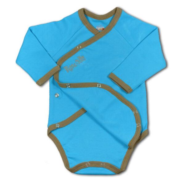 Baby Body in Türkis aus Pima Baumwolle